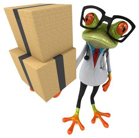 Frog doctor - 3D Illustration Stok Fotoğraf - 146995086
