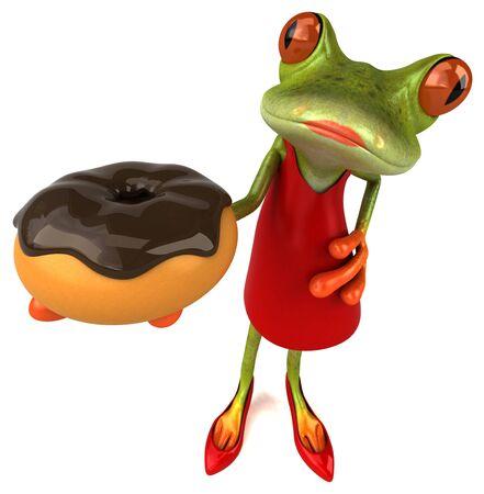 Fun frog - 3D Illustration Stok Fotoğraf - 146995091