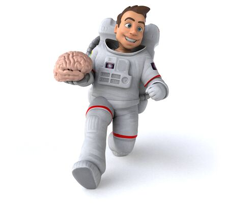 Fun astronaut - 3D Illustration Stok Fotoğraf - 146995309