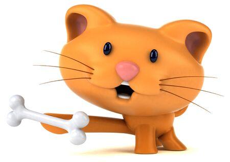 Fun cat - 3D Illustration Stok Fotoğraf