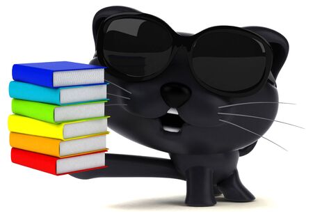 Fun cat - 3D Illustration Stok Fotoğraf - 146995463