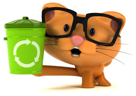 Fun cat - 3D Illustration Stok Fotoğraf - 146995464