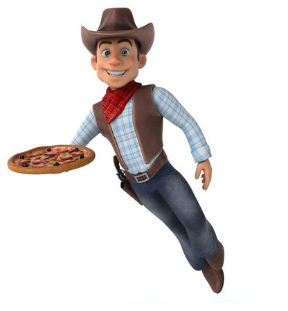 Fun Cowboy - 3D Illustration Stok Fotoğraf - 146995469