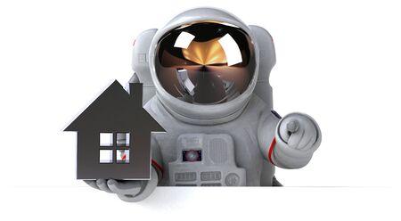 Fun astronaut - 3D Illustration Stok Fotoğraf - 146995473