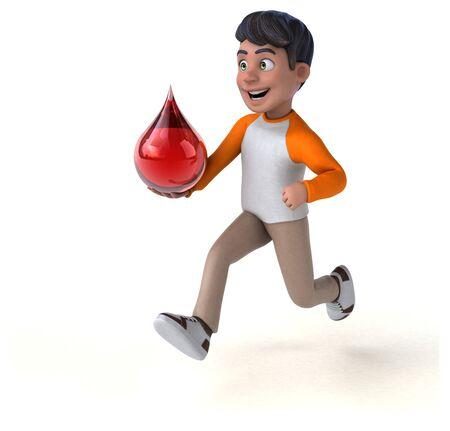 Fun 3D cartoon Asian teenager Stok Fotoğraf - 146996317