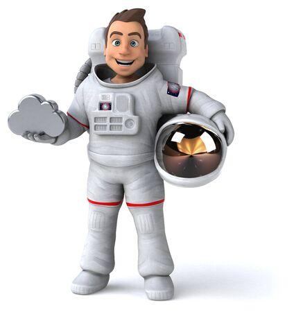 Fun astronaut - 3D Illustration Stok Fotoğraf - 146996323