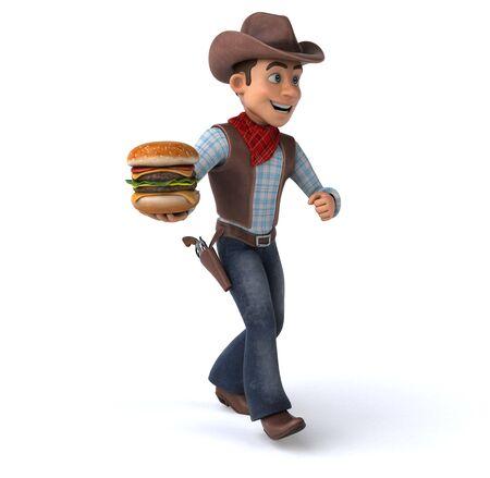 Fun Cowboy - 3D Illustration Stok Fotoğraf - 146996328