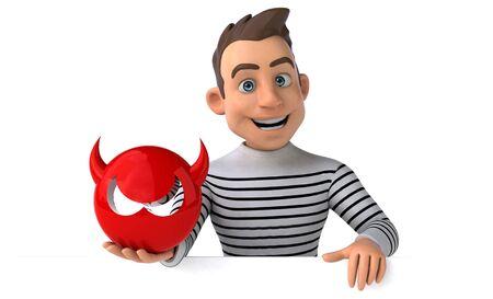 Fun 3D cartoon casual character Stok Fotoğraf