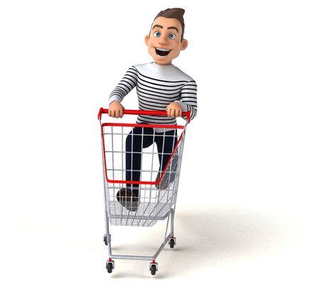 Fun 3D cartoon casual character Stok Fotoğraf - 146996397
