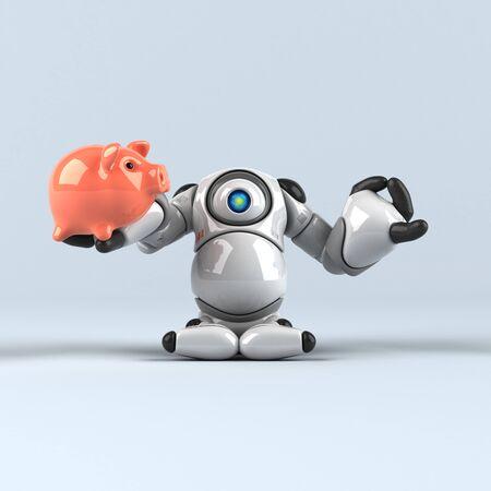 Big robot - 3D Illustration Standard-Bild