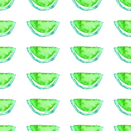 Seamless  Kiwi tropical pattern. Green Lime fruit exotic background.
