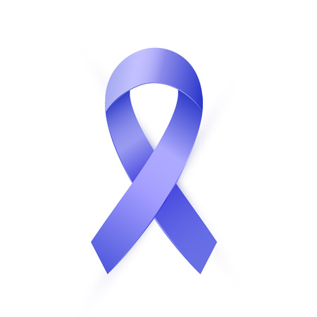 3d Blue ribbon to Colon Cancer and Colo-rectal Cancer Awareness month. 일러스트
