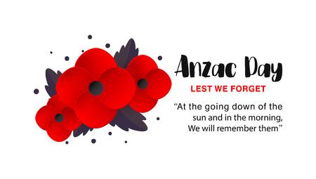 Affiche vectorielle de l'Anzac Day.