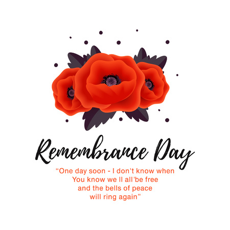 Remembrance Day vector card. Lest We forget. Banque d'images