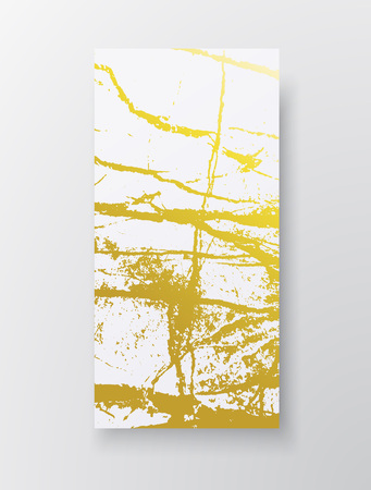 Golden marble imitation background. Abstract cover with old rock, stone texture. Pink and Gold grunge texture. Template for business, web, invitation, greeting card and wallpaper. Vector Illustration Ilustrace