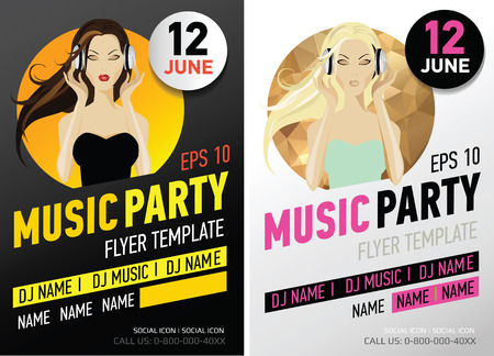 discoteque: Flayer music party.