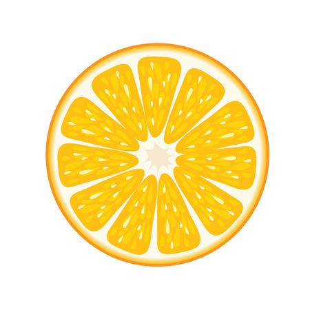 Orange Frucht Vektor-Illustration.