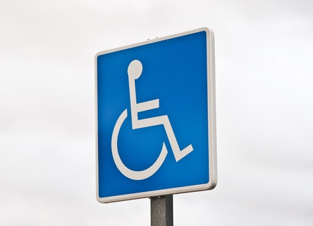 reserved parking sign for handicapped photo