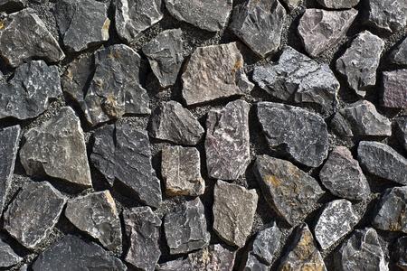 stone wall background with dark gray irregular slabs