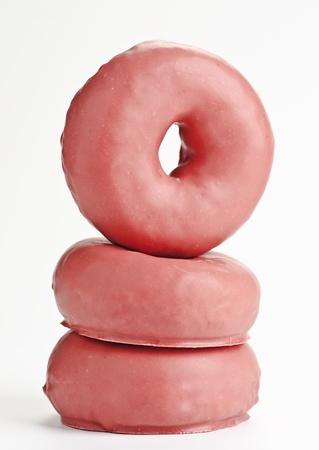 sweet breakfast  Donut isolated on white background