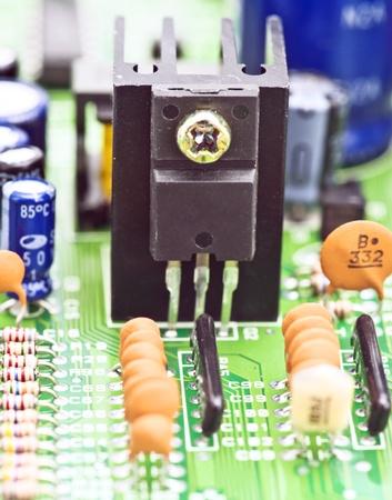 transitor: transistores montados a bordo de la electr�nica Foto de archivo