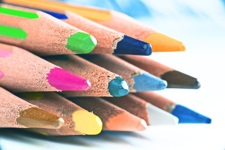 striped pencils of various colors