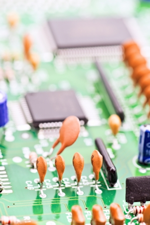 processor and other electronic components mounted on board Stock Photo - 13752920