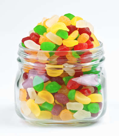 fruit jellies in clear glass jar Stock Photo - 13801759