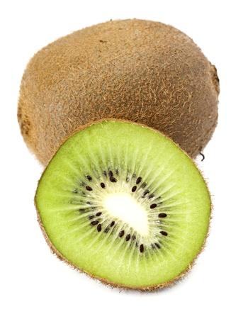 sectioned: sectioned kiwi isolated on white base