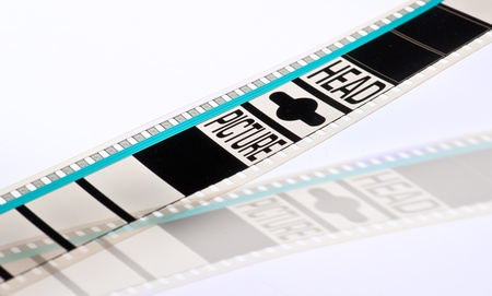 header of a 35mm film projection, on white background photo
