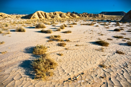 arid land in the desert of  The Bardenas   Nature reserve and the biosphere  photo