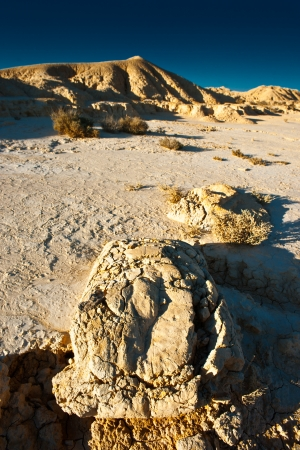 biosphere: arid land in the desert of  The Bardenas   Nature reserve and the biosphere  Stock Photo