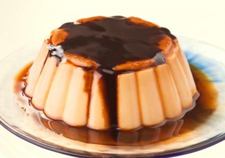 vanilla custard, dipped in caramel and chocolate syrup