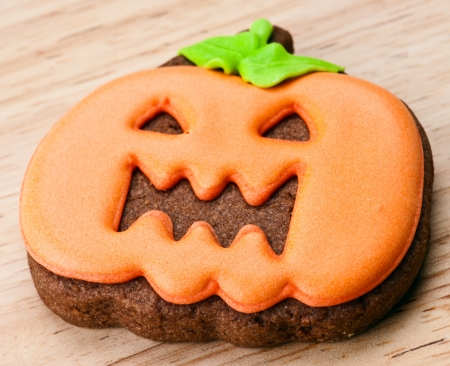 halloween cookies, chocolate covered orange photo