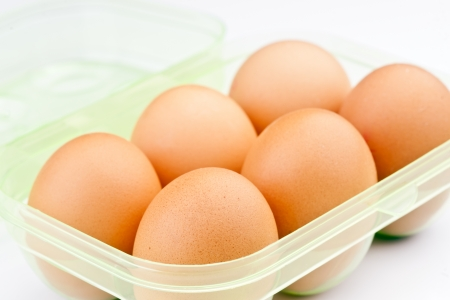 ordered six eggs in plastic packing Stock Photo - 17021720