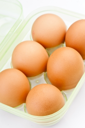 ordered six eggs in plastic packing Stock Photo - 17021721