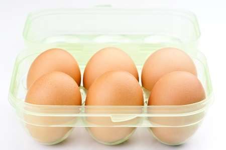 ordered six eggs in plastic packing Stock Photo - 17021708