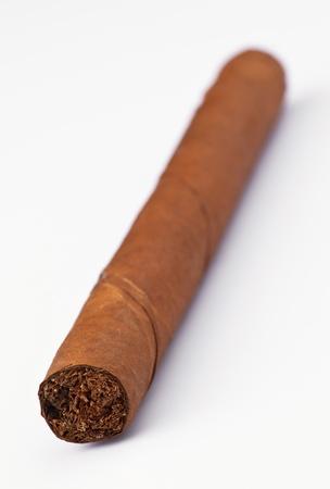 tabaco: cigarro tabaco puro aislado en blanco Foto de archivo