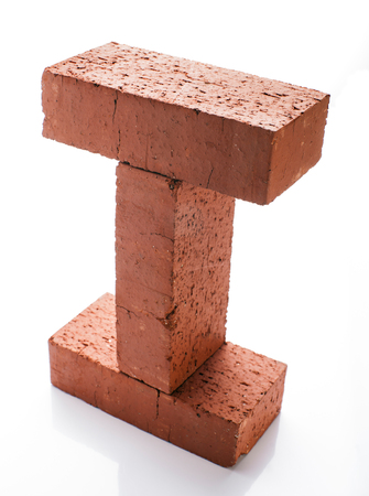 solid: Solid clay bricks used for construction
