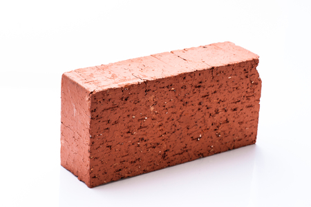 clay brick: Solid clay brick used for construction