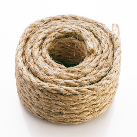 coiled rope: Rope Coiled on white background