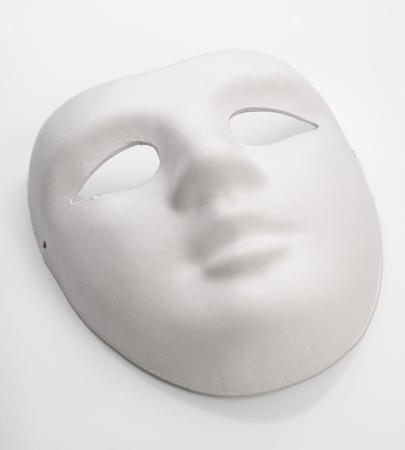 white mask: white cardboard mask undecorated Stock Photo