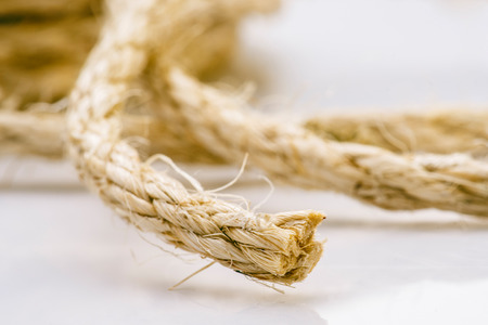 coiled: Coiled Rope, Lasso, Twine Stock Photo