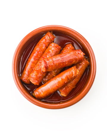 typical: typical Spanish red sausage