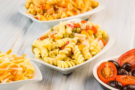 fusilli pasta salad cold Stock Photo