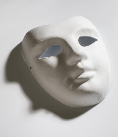 undecorated: white cardboard mask undecorated Stock Photo