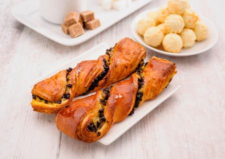 pralines: puff pastries and pralines Stock Photo