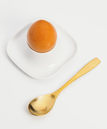 boiled: boiled egg with spoon