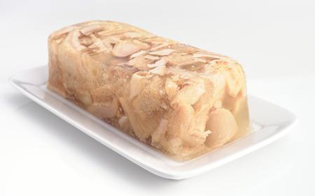 gelatine: callus kept in a block of gelatine Stock Photo