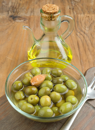 macerated: homemade olive oil on old wood